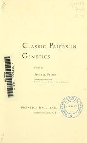 Cover of: Classic papers in genetics