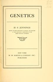 Cover of: Genetics