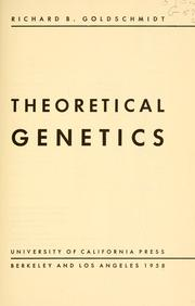 Cover of: Theoretical genetics