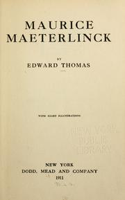 Cover of: Maurice Maeterlinck