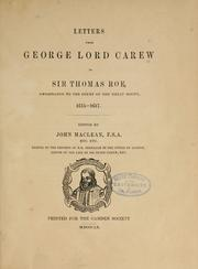 Cover of: Letters from George Lord Carew to Sir Thomas Roe