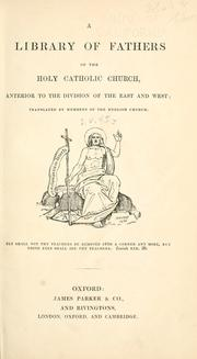 Cover of: The letters of S. Ambrose, Bishop of Milan