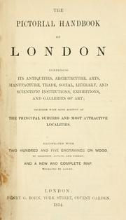 Cover of: The pictorial handbook of London by John Weale