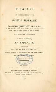 Tracts in controversy with Bishop Horsley by Priestley, Joseph