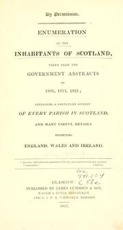 Cover of: Enumeration of the inhabitants of Scotland | James Lumsden & Son.
