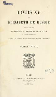 Cover of: Louis 15 et ©ØElisabeth de Russie