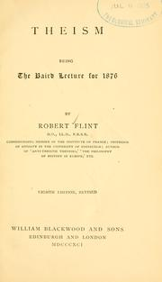Theism by Robert Flint