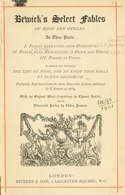 Cover of: Bewick's select fables of Aesop and others