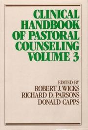 Cover of: Clinical handbook of pastoral counseling |