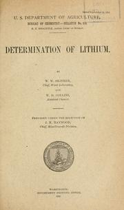 Determination of lithium by W. W. Skinner