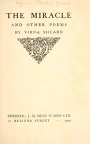 Cover of: The miracle | Virna Sheard