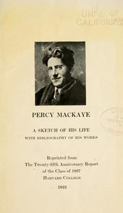 Cover of: Percy MacKaye