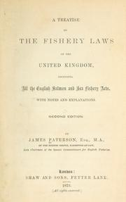 Cover of: A treatise on the fishery laws of the United Kingdom
