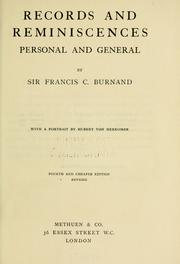 Cover of: Records and reminiscences