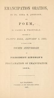 Cover of: Emancipation oration