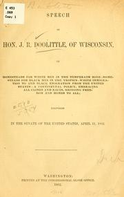Cover of: Speech of Hon. J.R. Doolittle, of Wisconsin, on homesteads
