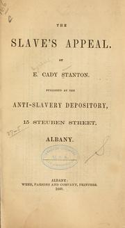Cover of: The slaves's appeal