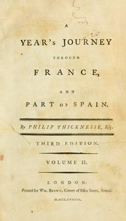 Cover of: A year's journey through France, and part of Spain