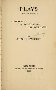 Cover of: Plays. | John Galsworthy