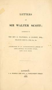 The letters of Sir Walter Scott by Sir Walter Scott