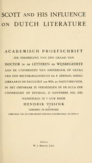Scott and his influence on Dutch literature .. by Hendrik Vissink