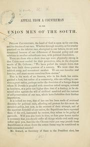 Appeal from a countryman to the union men of the South by R. H. Howe