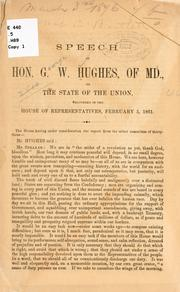Cover of: Speech of Hon. G. W. Hughes, of Md