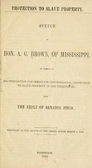 Cover of: Protection to slave property