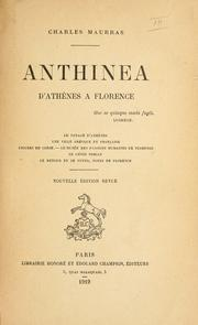 Cover of: Anthinea