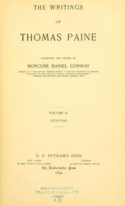 Cover of: The writings of Thomas Paine