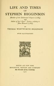 "Cover of: Life and times of Stephen Higginson: member of the Continental congress (1783) and author of the ""Laco"" letters, relating to John Hancock (1789)"