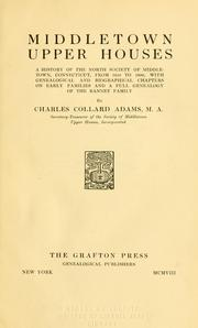 Cover of: Middletown Upper Houses by Charles Collard Adams