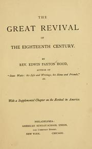 Cover of: The great revival of the eighteenth century