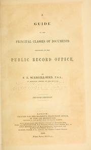 Cover of: A guide to the principal classes of documents preserved in the Public record office