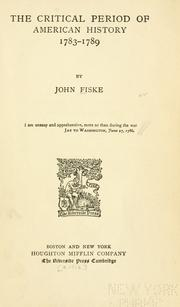 1789 by John Fiske