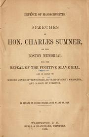 Cover of: Defence of Massachusetts
