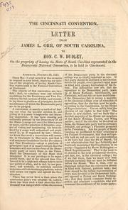 Cover of: The Cincinnati convention