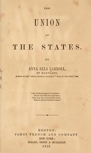 Cover of: The union of the states