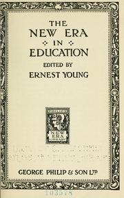 Cover of: The new era in education