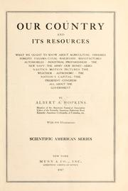 Cover of: Our country and its resources by Albert A. Hopkins