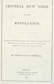 Cover of: Central New York in the revolution