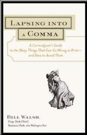 Cover of: Lapsing into a comma
