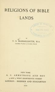 Cover of: Religions of Bible lands