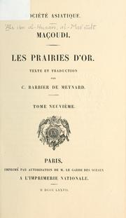 Cover of: Les prairies d'or | Mas℗ʻ©Æud©Æi