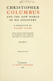 Cover of: Christopher Columbus and the New world of his discovery