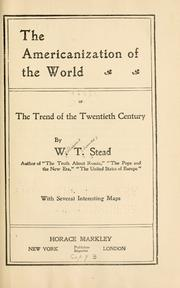 Cover of: The Americanization of the world