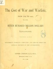 Cover of: The cost of war and warfare