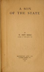 Cover of: A son of the state