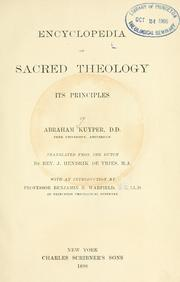 Cover of: Encyclopedia of sacred theology