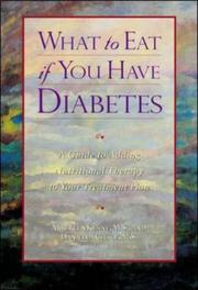 Cover of: What to eat if you have diabetes